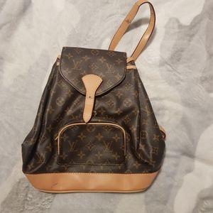 Brown monogram Backpack